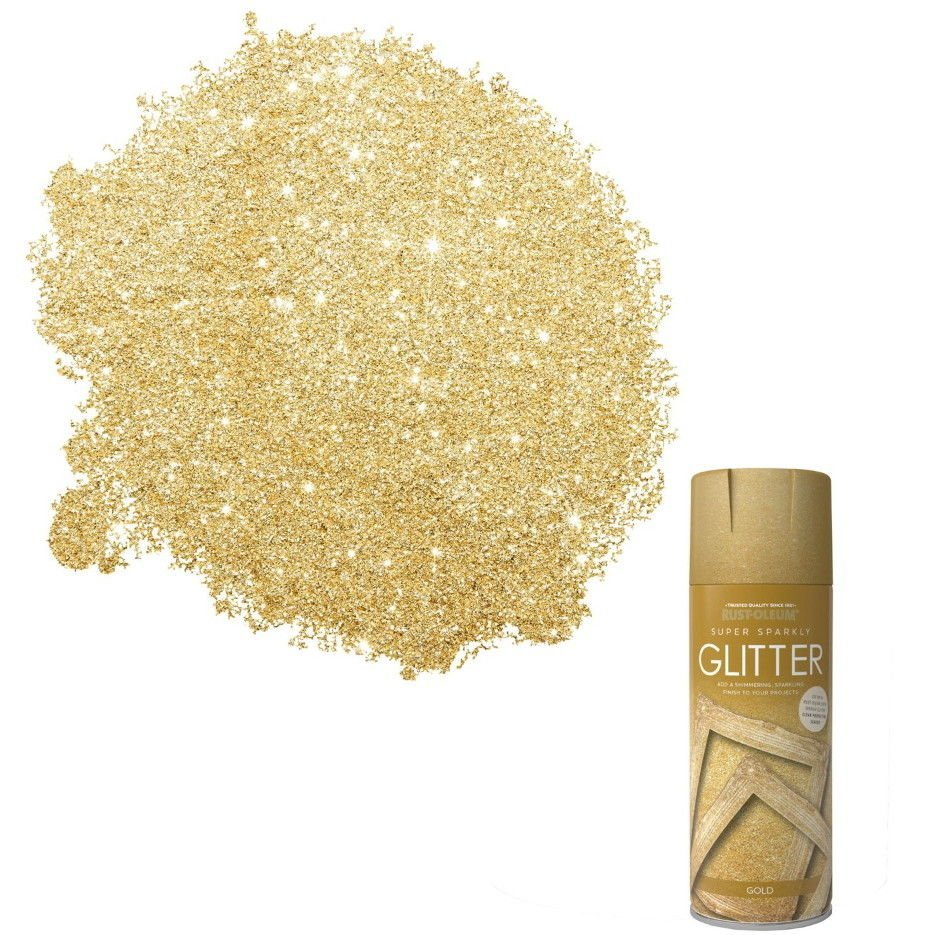 x1-Rust-Oleum-Super-Sparkly-Sparkling-Gold-Glitter-Aerosol-Spray-Paint-400ml-372062696153