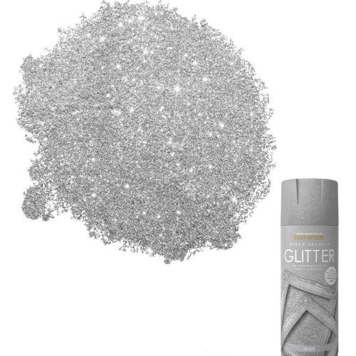 x1-Rust-Oleum-Super-Sparkly-Sparkling-Silver-Glitter-Aerosol-Spray-Paint-400ml-391878056162