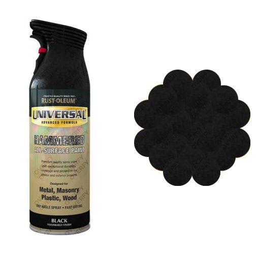 x1-Rust-Oleum-Universal-All-Surface-Spray-Paint-400ml-Any-Angle-Black-Hammer-371557550680
