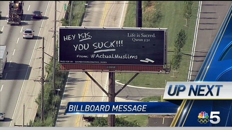 'Hey ISIS, You Suck' Billboard Is Being Pushed By #ActualMuslims