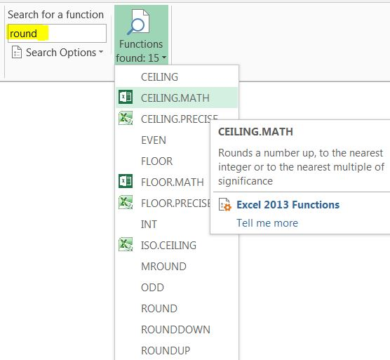 Ceiling Math Excel 2007 Integralbook Com
