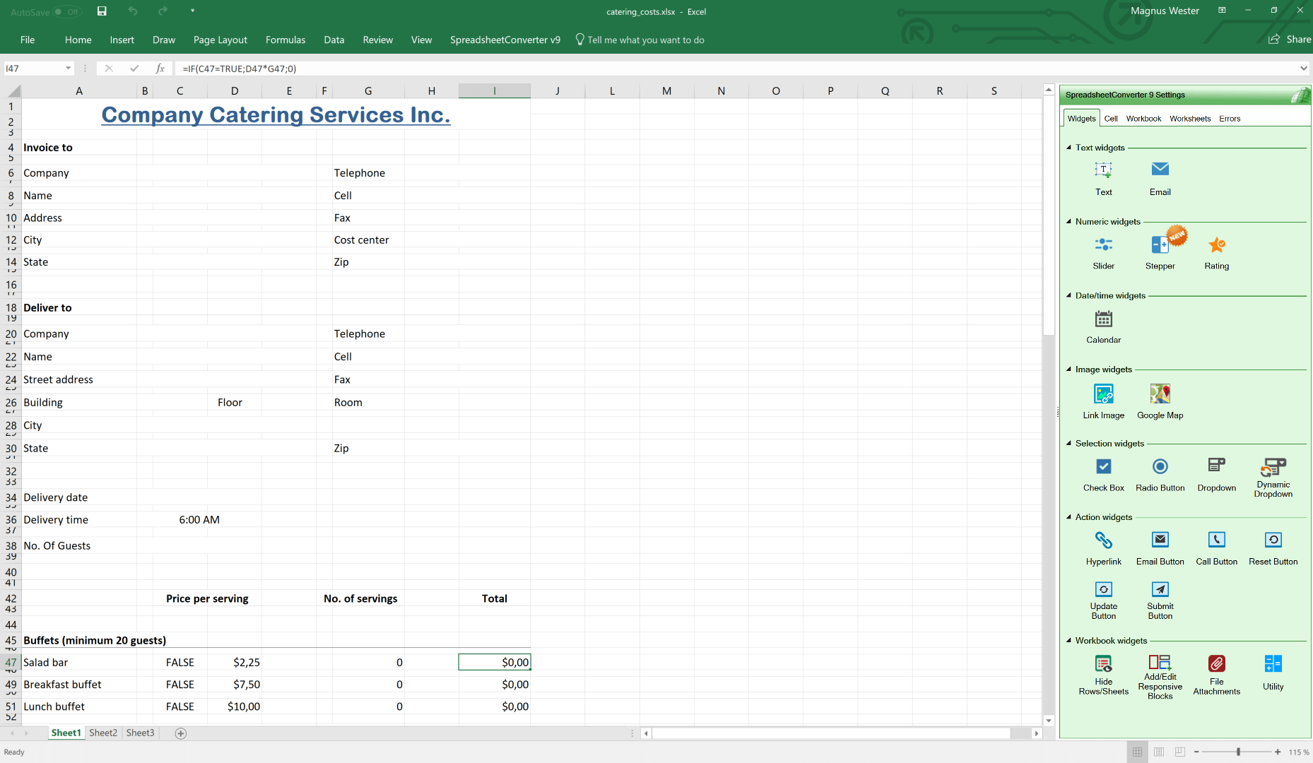 Create Your Web Calculator Or Web Form With Excel