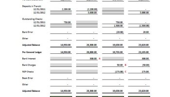 Free excel bank reconciliation template download proof of cash template pronofoot35fo Gallery