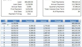 loan amortization schedule with additional payments