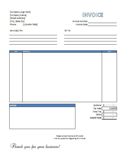 download free invoice template nz – residers, Invoice examples