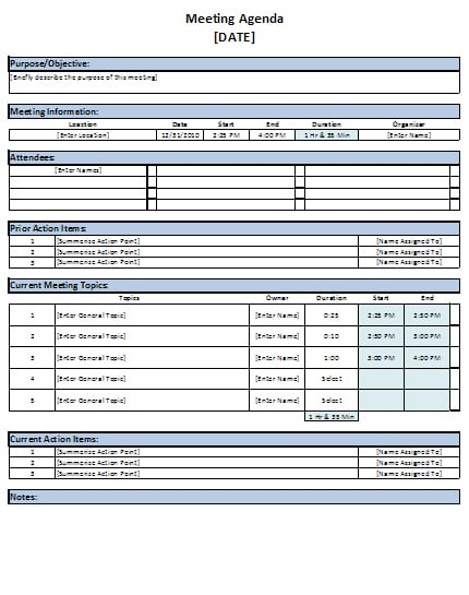 Meeting Templates Excel. issue log template outline templates ...