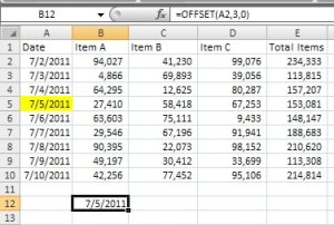 Excel Offset Function 1