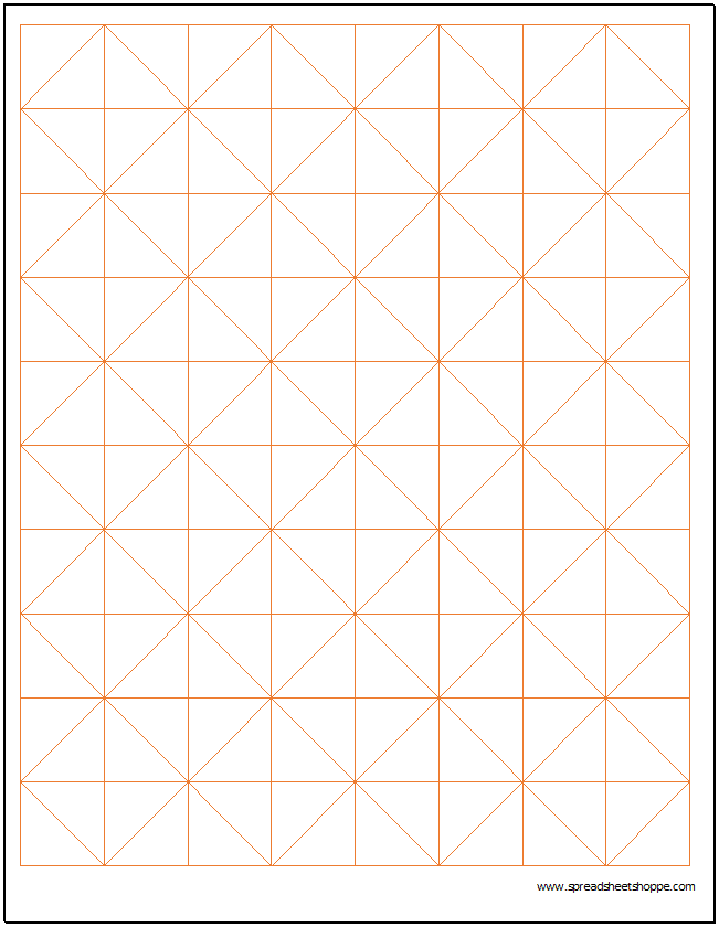 Axonometric Graph Paper  Grid Paper Template