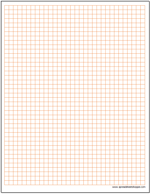 Cartesian Graph Paper Template .25""