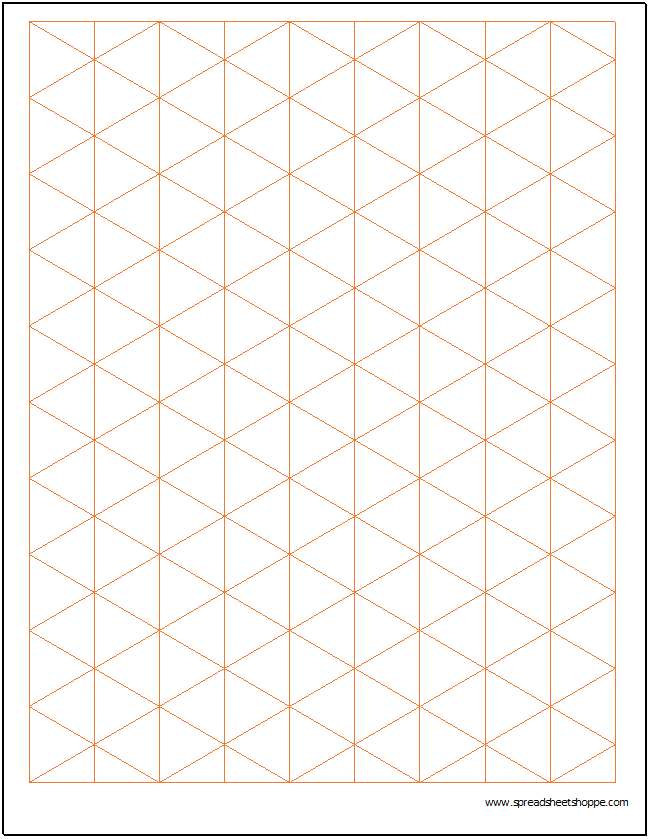 Isometric Graph Paper Template Spreadsheetshoppe – Download Graph Paper for Word