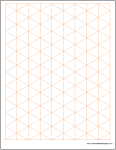 Graph Paper - Isometric 1 inch Excel Template