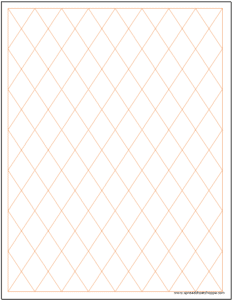 Diamond Rhombus Graph Paper Excel Template