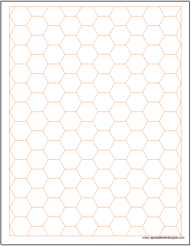 Hexagonal Graph Paper Template Spreadsheetshoppe – Hexagon Graph Paper