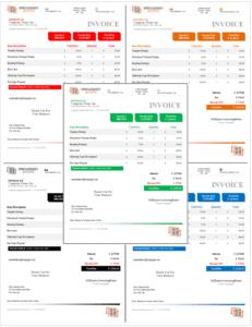 Denali Invoice Template - All Colors