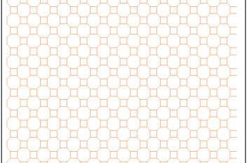 Octagonal and Square Graph Paper Template