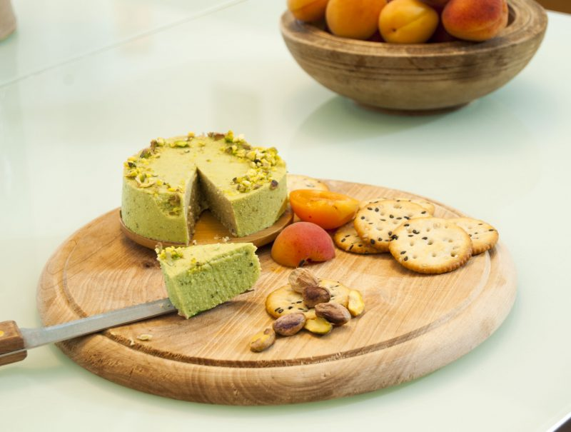 Vegan Pistachio Nut Cheese