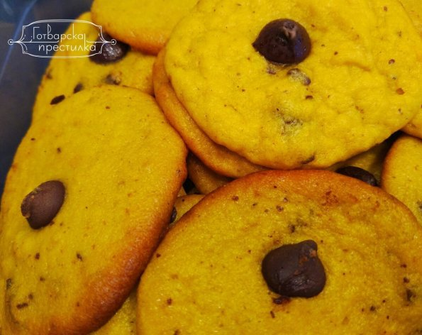 Тиквени сладки с шоколадов чипс