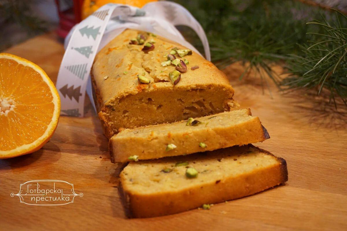 Портокалово-джинджифилов хляб с шамфъстък