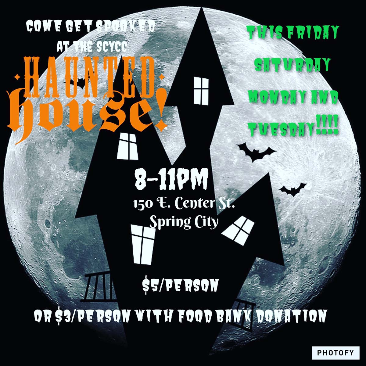 Spook Alley, Free Wagon Rides & Food Truck Round-Up