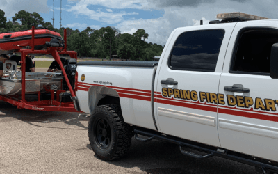 Spring Fire Department Gets Wet during Hurricane Season