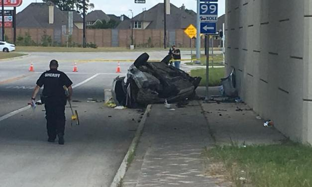 One Dead After Car Drives off Grand Parkway Overpass