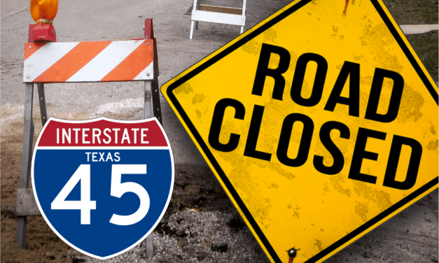 Total Closure of I-45 Southbound Mainlanes at Rayford Sawdust; Jan 25-Jan 28