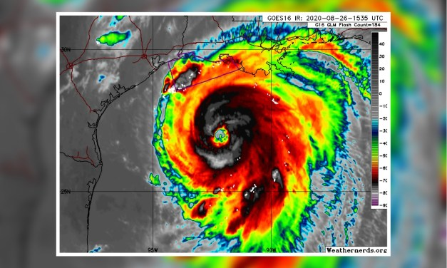 Laura Strengthens to Category 3 Hurricane; Zeroes in on TX/LA Border
