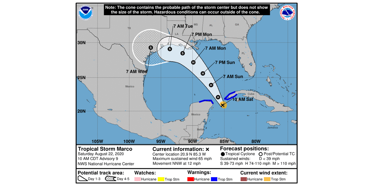 Tropical Storm Marco Forms in the Gulf, Residents Should Prepare Now