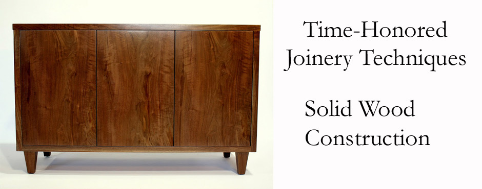 Solid Hardwood custom furniture construction