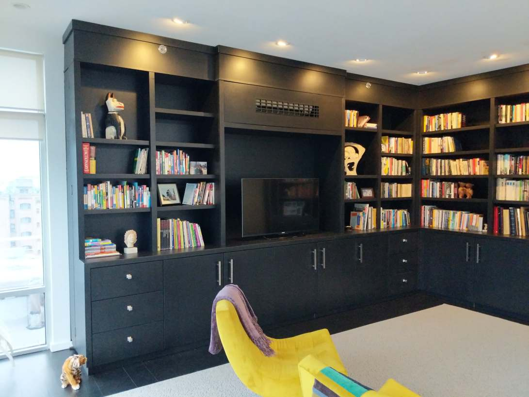 black custom cabinetry