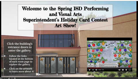 Superintendent's Holiday Card Contest Art Show