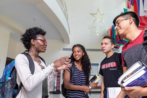 Spring Early College Academy students on campus at Lone Star College-North Harris