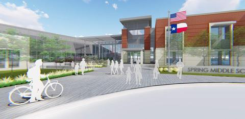 Architectural rendering of Middle School #8