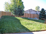 Privacy fence - colorado springs landscaping