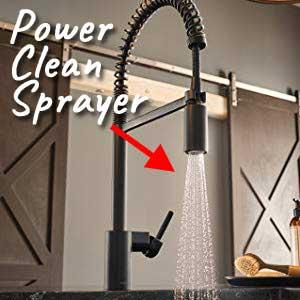 moen black stainless pull down faucet