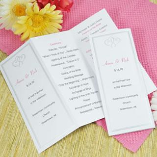 D I Y Wedding Programs