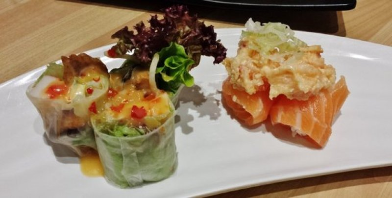 Salmon Spring Roll, Salmon Lobster Salad Roll