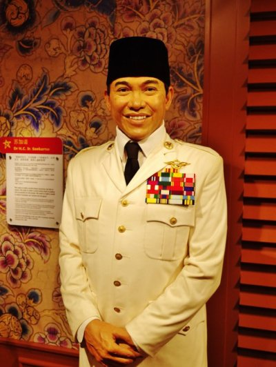 Madame Tussauds Singapore Sukarno
