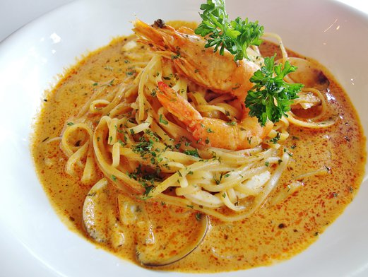 Citrus By The Pool Tom Yum Seafood Pasta