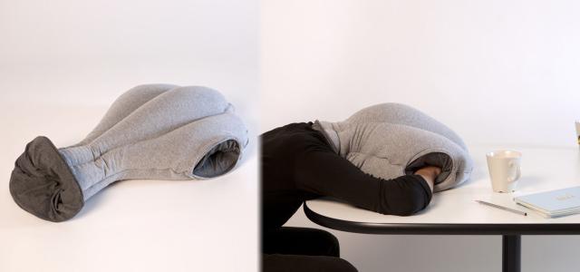 wearable pillow facilitates desktop