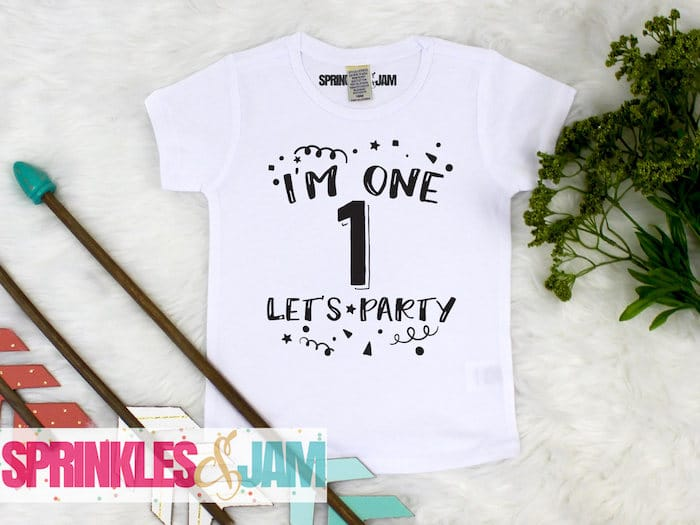 First Birthday Shirt Baby Boy Shirt Personalized 1st Birthday Boy Outfit Im 1 Lets Party Im One Sprinkles And Jam