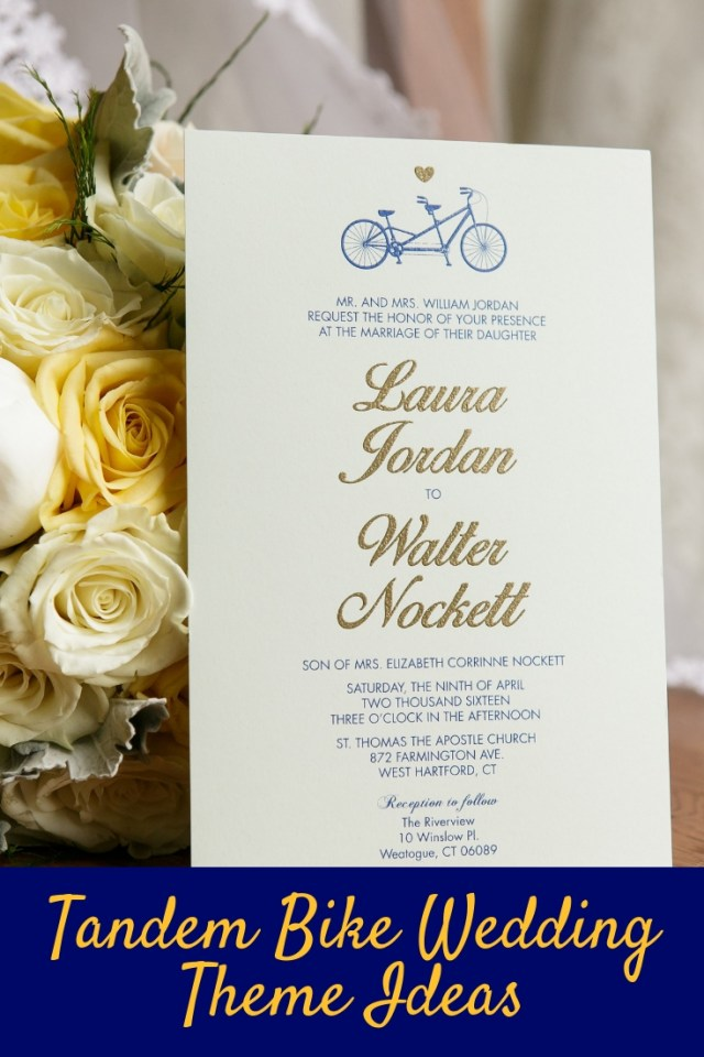 Tandem Bike Wedding Theme Ideas