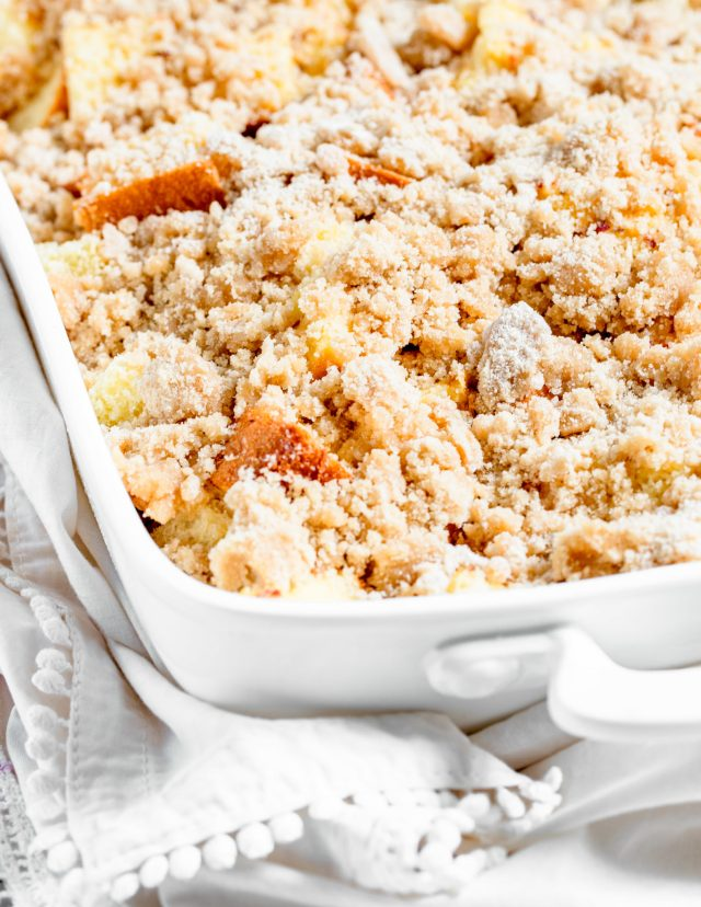 Overnight Peaches and Cream French Toast Casserole