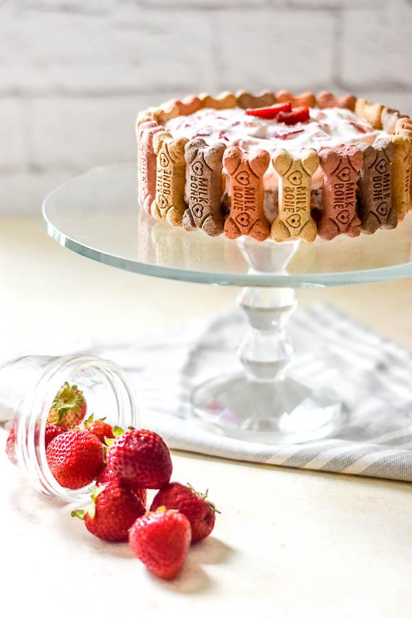 Strawberries and Cream Pupcake