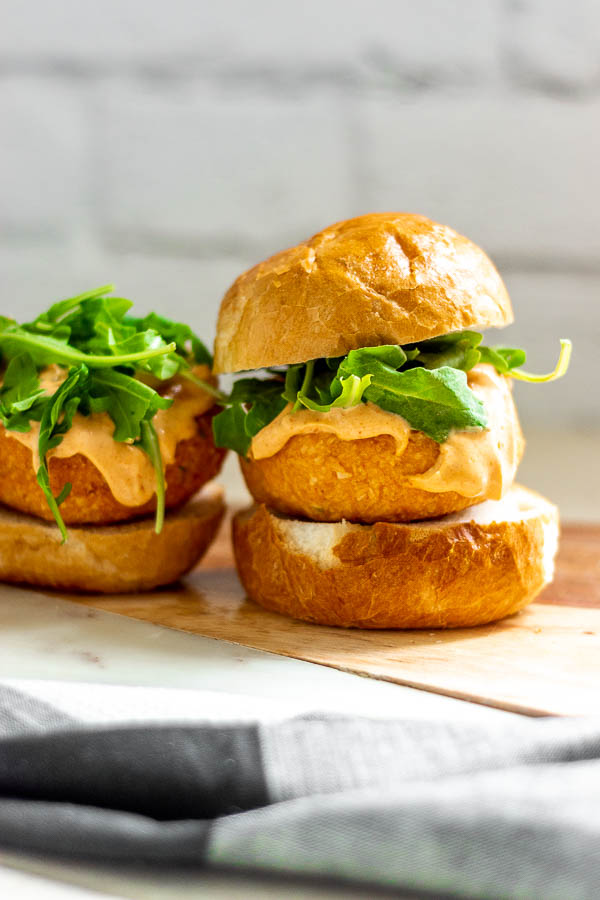 Coconut Red Curry Salmon Burgers