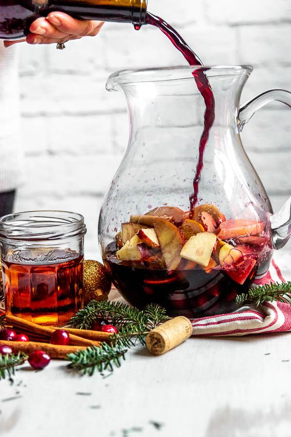 Cranberry Orange Christmas Sangria