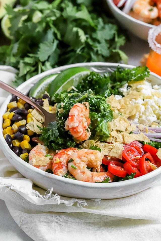 Cilantro Lime Shrimp Taco Salad