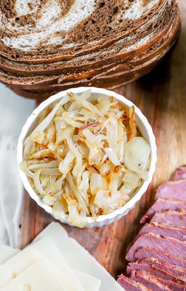 leftover corned beef reubens