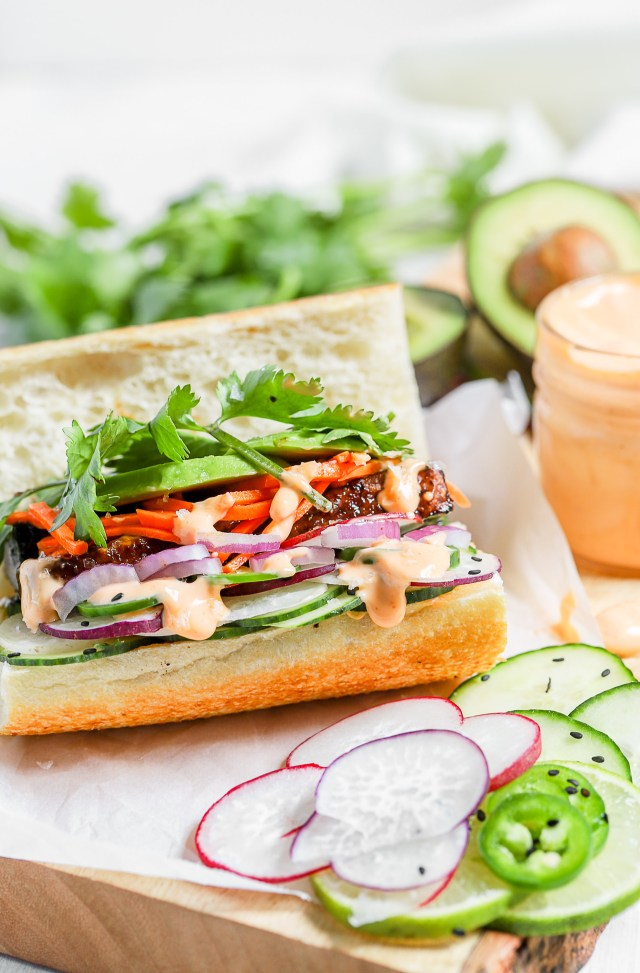Air Fryer Tofu Banh Mi