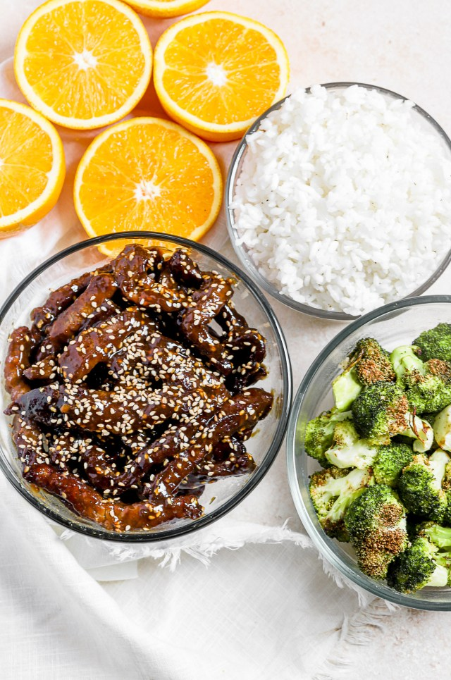 Air Fryer Orange Sesame Beef and Broccoli
